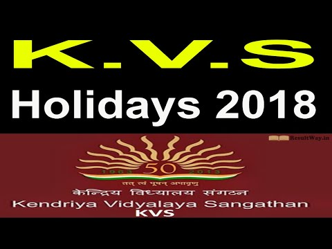 List of Holidays to be observed in KVS during the year 2018_Govt Employees News