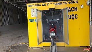 Máy rửa xe tự động hiện đại nhất việt nam.