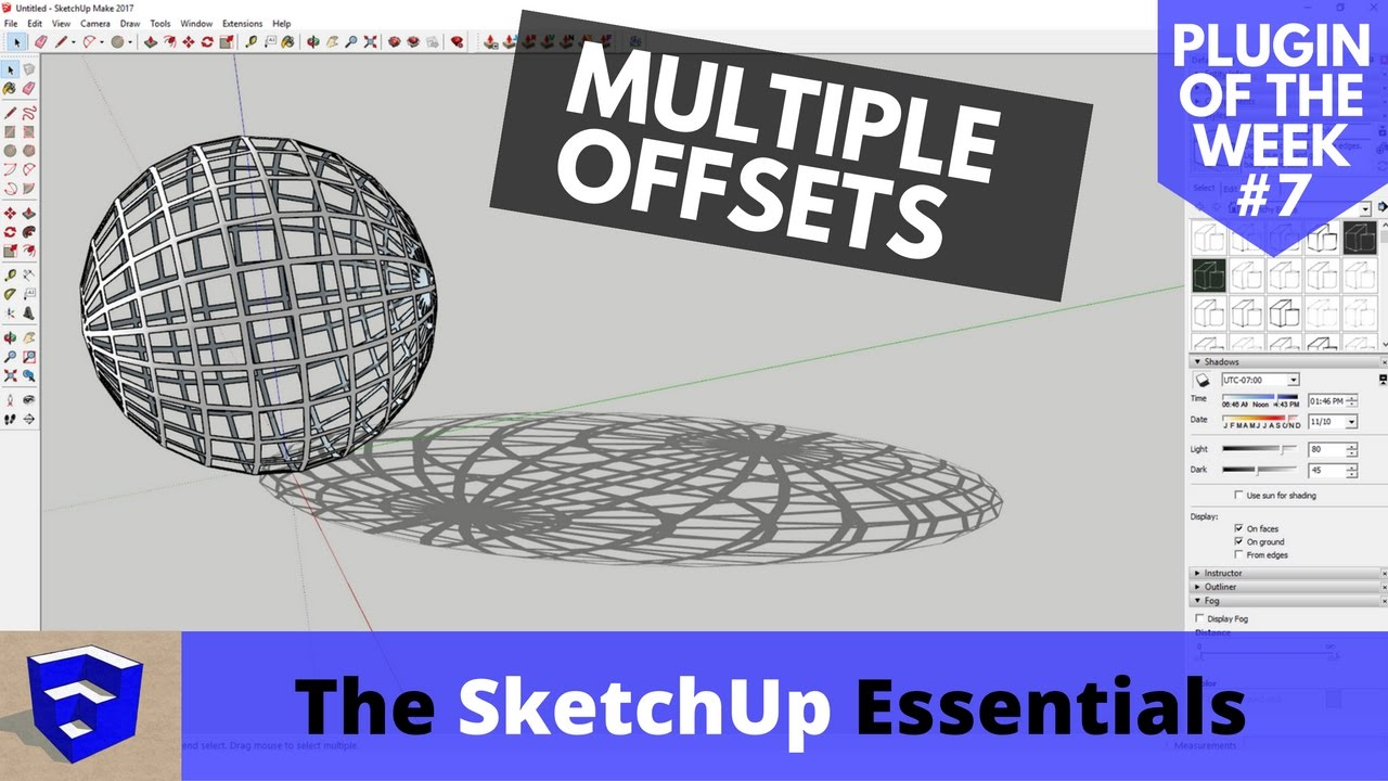 Offsetting Multiple Faces in SketchUp at Once - SketchUp