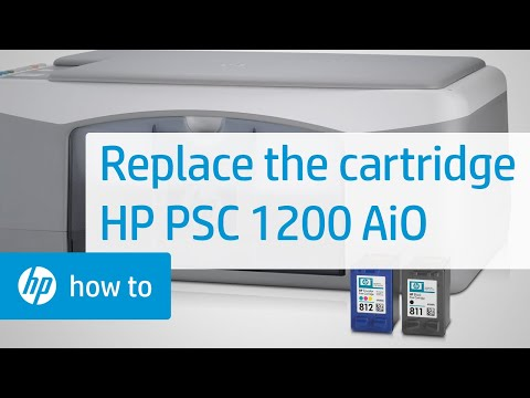 Replacing a Cartridge - HP PSC 1200 All-in-One Printer