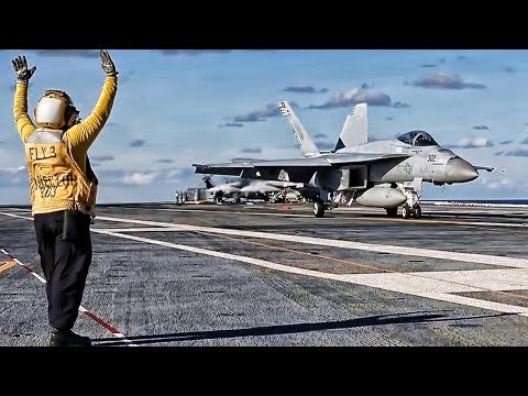 USS Gerald R. Ford Flight Ops • Super Hornet Carrier Testing