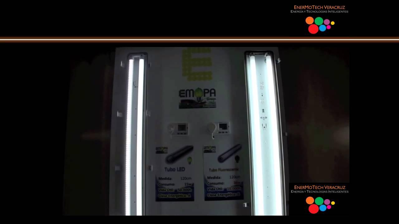 Comparativa de consumo tubo led vs fluorescente youtube - Tubo fluorescente led ...