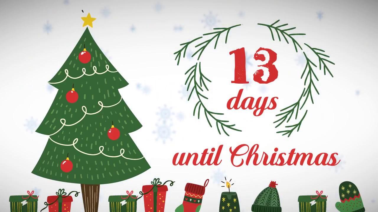 Christmas Counter.Xmas Counter Days Until Christmas 13
