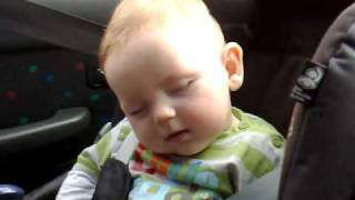 Cute Baby Leo Fighting Sleep (Original)