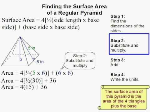 How to Find the Surface Area of a Pyramid  YouTube