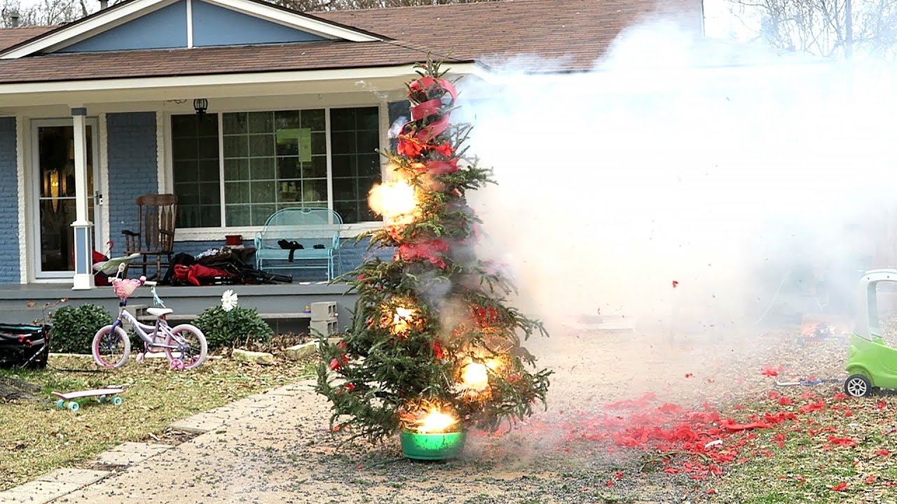 blowing up our christmas tree - Blow Up Christmas Tree