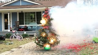Video BLOWING UP OUR CHRISTMAS TREE! download MP3, 3GP, MP4, WEBM, AVI, FLV Agustus 2017