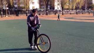 외발자전거 Unicycle 대구팔공클럽 주상훈님 26인치 수직타기연습