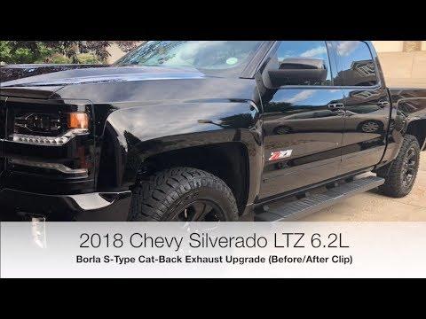 borla s type cat back exhaust vs stock before after clip 2018 silverado 6 2l