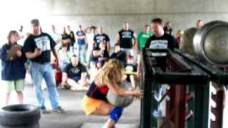 55 Yr. Old Woman doing-OilCity STrongman/woman 2009 in Oil City, PA