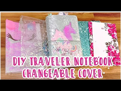 DIY Travelers Notebook Changeable Cover/How to