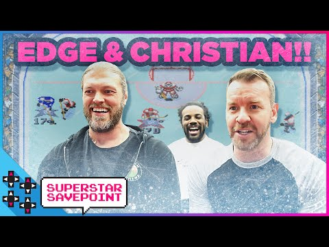 EDGE and CHRISTIAN settle a decades-old fight in NHL 95!!! - Superstar Savepoint