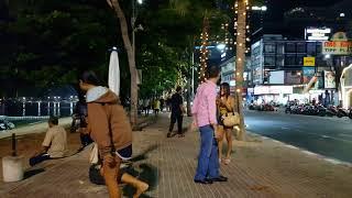 Pattaya Beach Road Saturday Night Oct 10.2017 [4K]