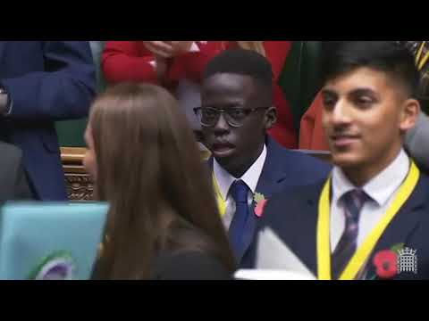 Youth MP Athian Akec speaks at the House of Commons