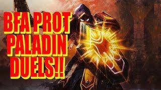 PROT PALADIN DUELS!! NO STOPPING ME!   BFA PROT PALADIN PvP   WoW Legion