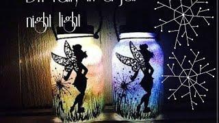 DIY Fairy in a jar night light