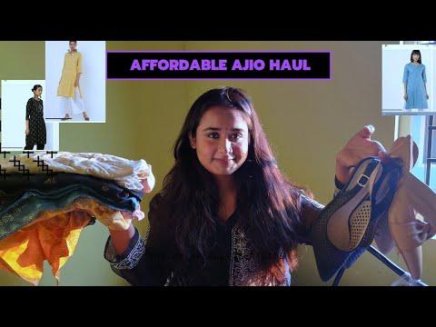 Affordable AJIO haul l kurtis, footwear, top l kurtis starting at Rs 282only😮