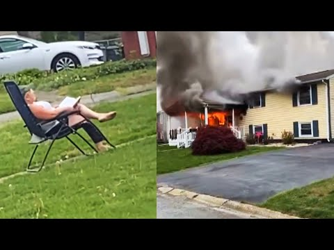 Woman-Sets-Her-House-on-Fire-Then-Sits-to-Watch-It-Burn-Cops