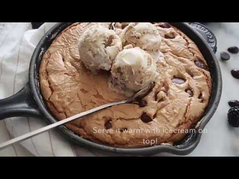 How to: Skillet cookie with ice cream