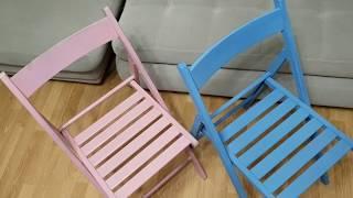 Переделка старой мебели своими руками.Как обновить стулья? Покраска стульев из Икеа.Обновляем стулья