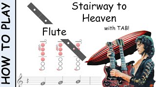 How To Play Stairway To Heaven On Flute Sheet Music With Tab Youtube