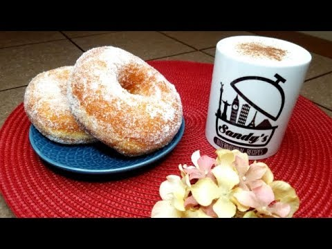 Exquisitas donas de azúcar esponjosas │ Cinnamon sugar donuts fried│Sandy's International Recipes