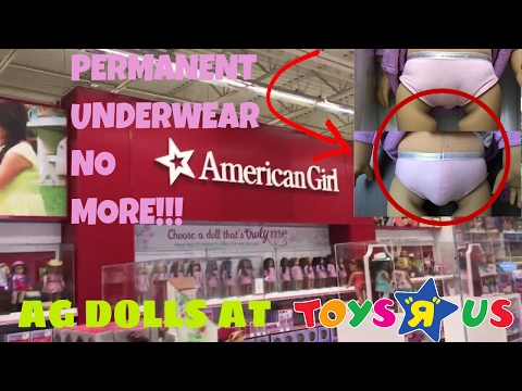 AMERICAN GIRL DOLLS AT TOYS'R'US!!! NO PERMANENT UNDERWEAR???+OPENING MY NEW AG DOLL