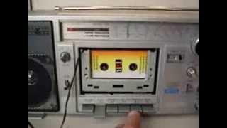 Siemens Club 816 Boombox with compact cassette adapter