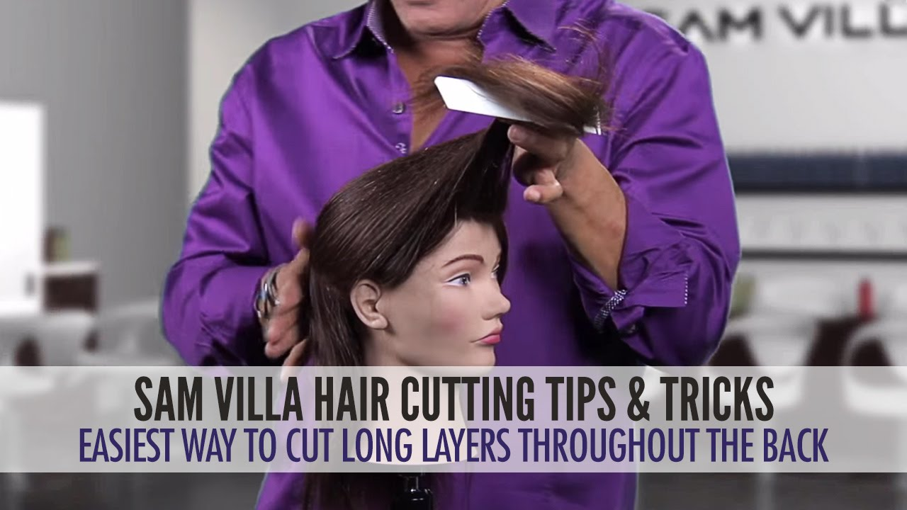 Easiest Way To Cut Long Layers Throughout The Hair YouTube - Diy ponytail cut layers