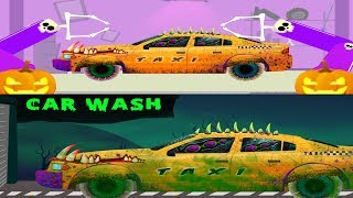 Scary Taxi | Halloween Car Garage | Car Wash | Kids Video