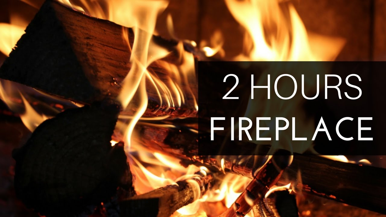 2 Hours Of Burning Fireplace With Crackling Fire Sounds