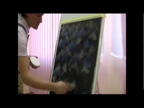 Декоративная краска - способы нанесения