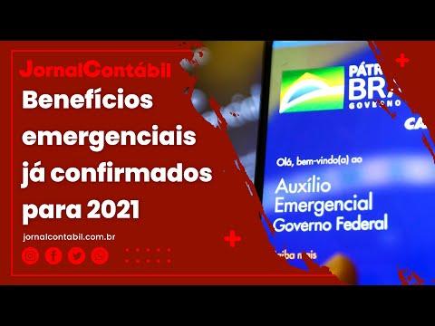 Benefícios emergenciais já confirmados para 2021