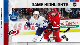 Maple Leafs @ Hurricanes 10/25/21 | NHL Highlights