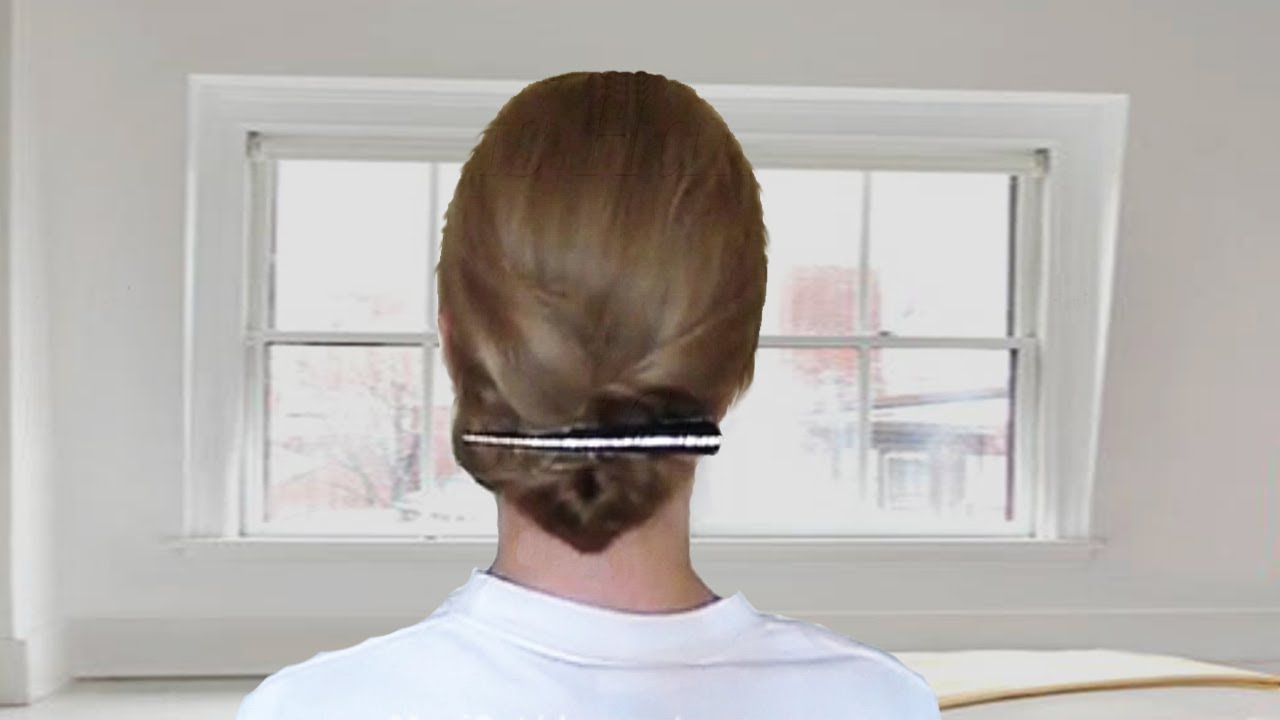 Easy Updo Hairstyle For Medium Hair - YouTube