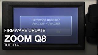 zoom q8 firmware update