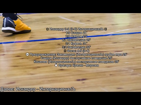 Старт Чемпионата МФЛ по футзалу (03.11.2018)