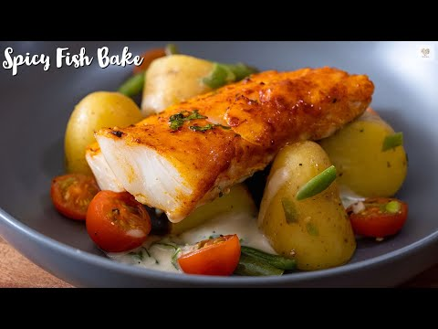 Spicy Baked Cod Fillet Recipe | Low Fat Harissa Rubbed Cod Or Any White-fish Fillet