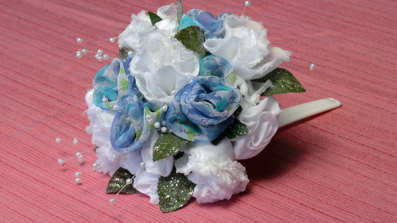 Do It Yourself Wedding Projects Make Floral Bouquets From Clothing Items