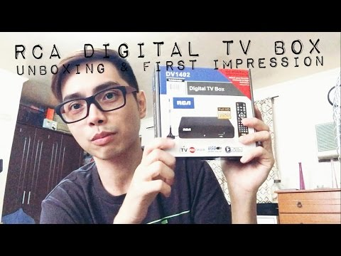 RCA DIGITAL TV BOX Unboxing and First Impression Review | Mart