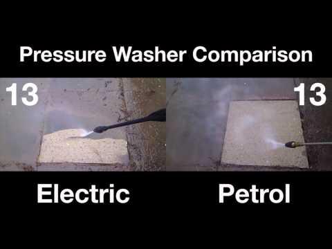 Electric vs. Petrol - Pressure Washer Comparison