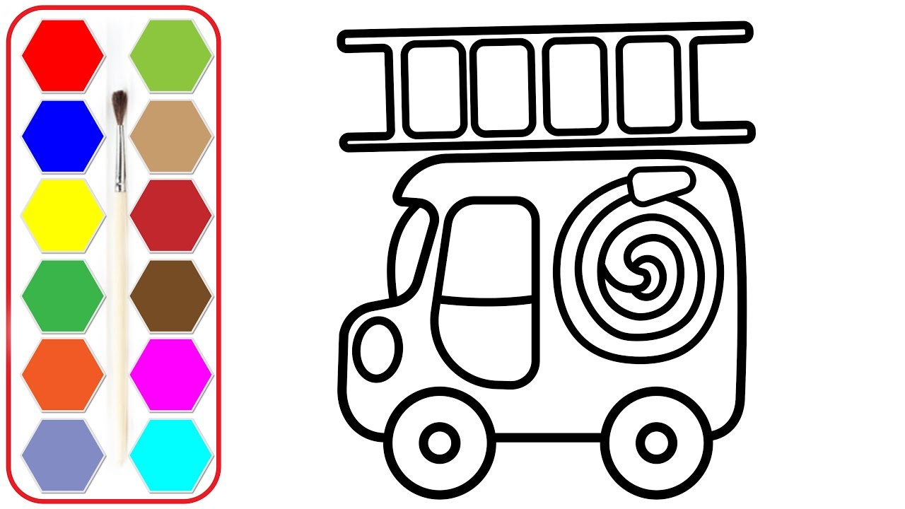 coloring for kids with fire truck colouring pages for children glitter colors - Colouring Pictures For Children