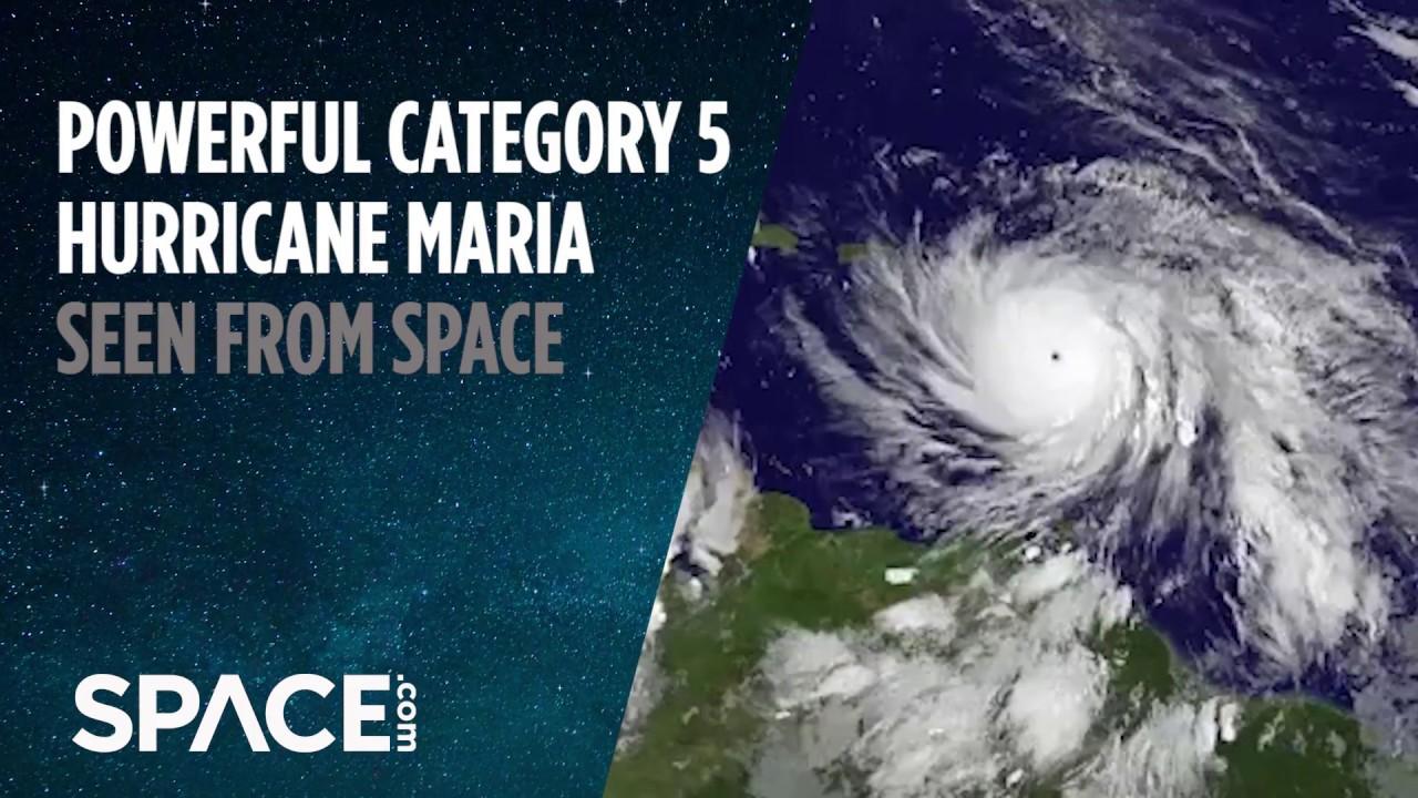 Category 5 Tornado : Category hurricane maria seen from space doovi