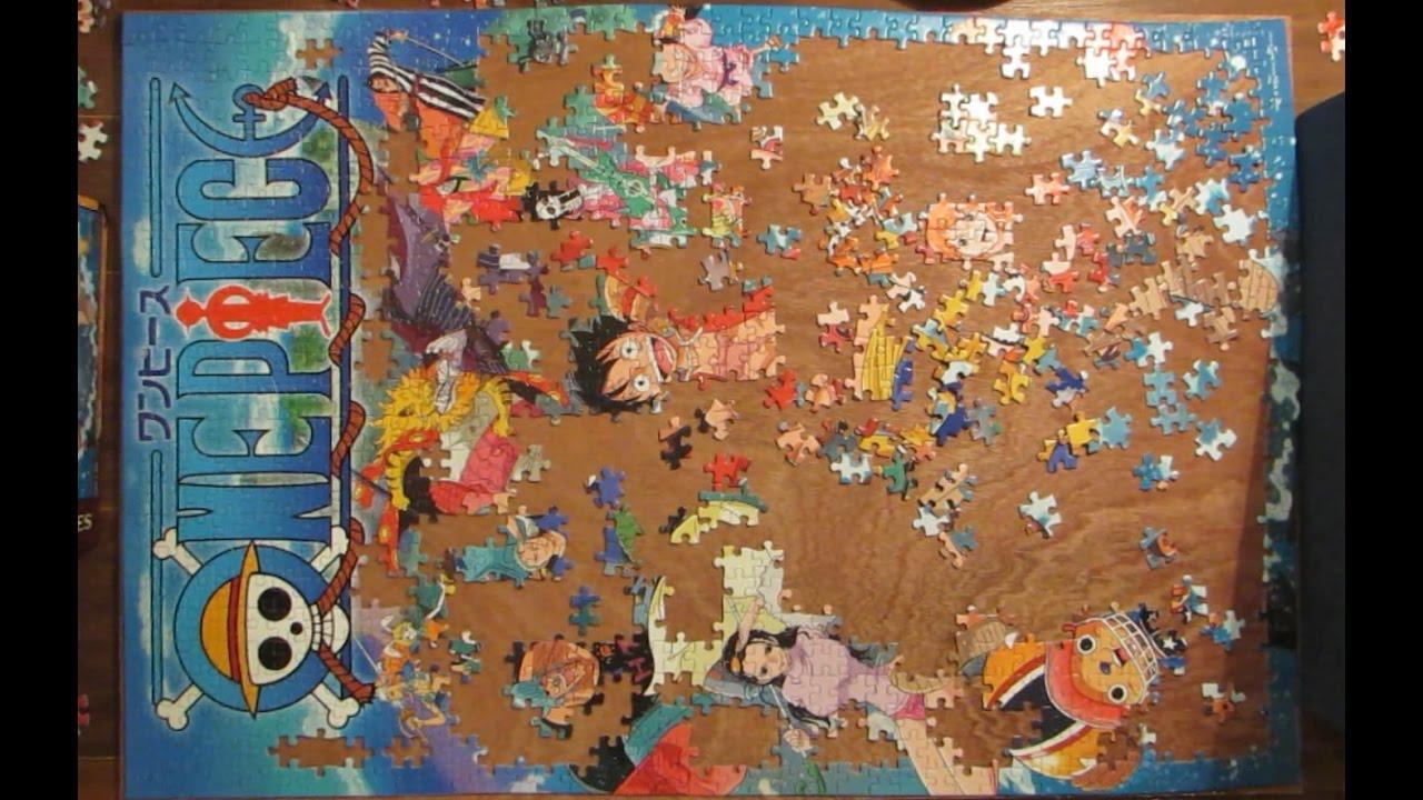 Time lapse 1000 pieces jigsaw puzzle one piece zou for Custom 5000 piece puzzle