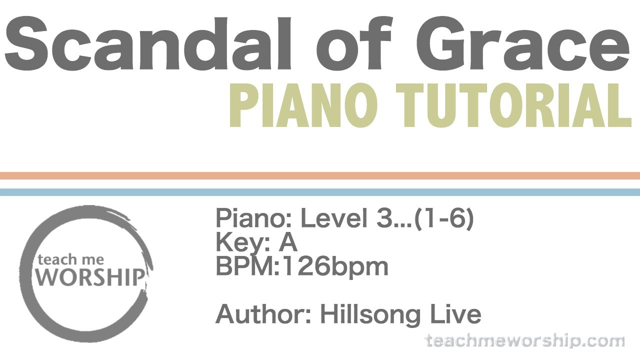 Scandal of grace by hillsong united piano tutorial youtube scandal of grace by hillsong united piano tutorial hexwebz Gallery