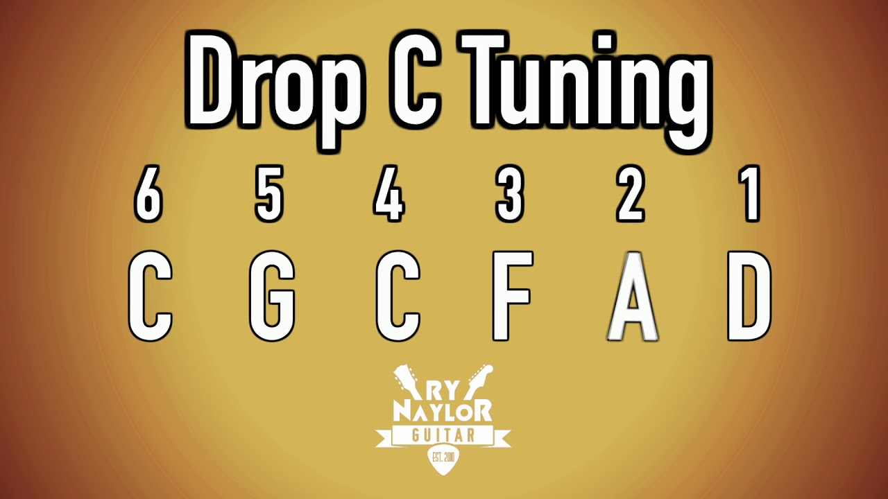 Drop C Guitar Tuning Notes Youtube