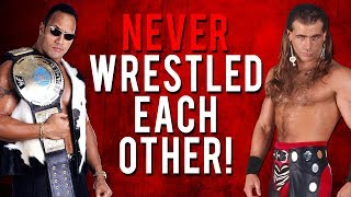 The Real Reason Why The Rock & Shawn Michael's Never Wrestled Each Other!