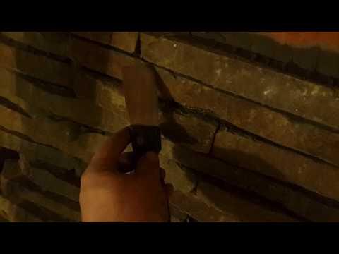 Бутовый камень лапша на стену в баню