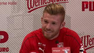 15. Spieltag: TSV 1860 München - Hallescher FC | Pressekonferenz vor dem Spiel
