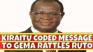 Kiraitu Murungi Coded Message to Gema about Uhuru Rattles William Ruto